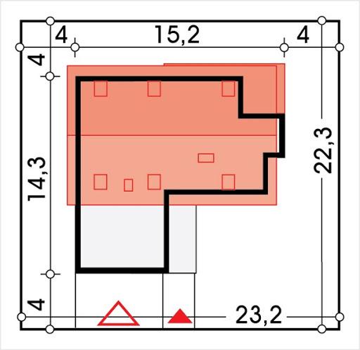 Antoni wersja D podwójny garaż - Sytuacja