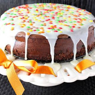 Double Chocolate Cheesecake with Espresso Chocolate Cracker Crust.
