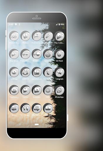Download Grayish White Icons Pack MOD APK 8
