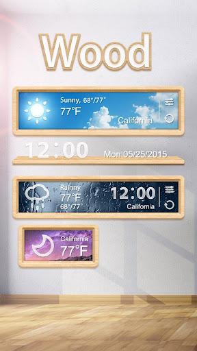 Wood GO Weather Widget Theme