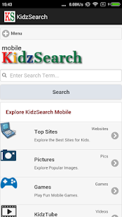 KidzSearch Safe Web Browser- screenshot thumbnail