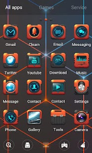 Torn Future Go Launcher Theme - náhled