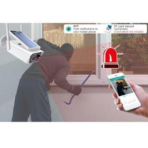 Camera de supraveghere IP Wireless HD cu panou solar