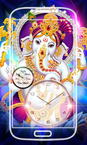 Ganesh Clock Live Wallpaper screenshot 1