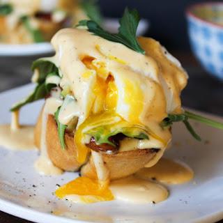"Eggs Benedict ""My Way"" with Sriracha Hollandaise Recipe"