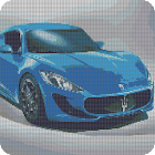 Color By Number Cars Sandbox Coloring Pixel Art icon