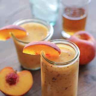 Big Batch Peach Bourbon Slush