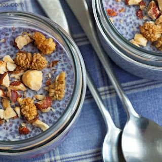 Vanilla Blueberry Chia Pudding