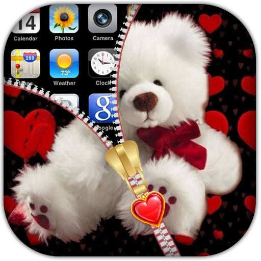 Taddy Bear Zipper Lock Screen