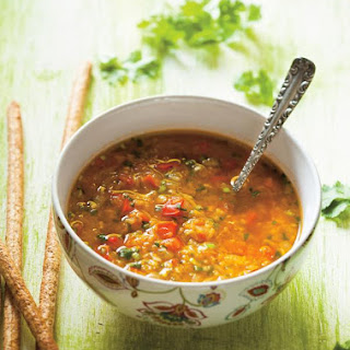 Lentil and Red Bell Pepper Soup.
