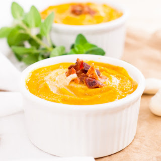 Creamy Carrot Soup with Bacon