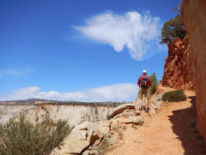 Photo: Aaron checks out the view along the trail.
