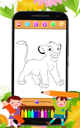 Coloring book moana APK screenshot thumbnail 4