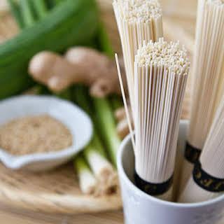 Hiyashi Somen (Japanese Chilled Somen Noodles with Dipping Sauce).