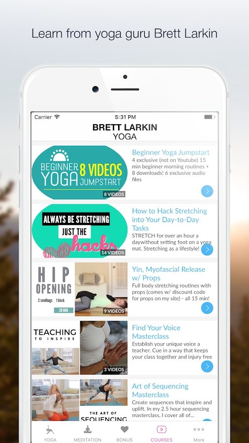 Brett Larkin Yoga- screenshot