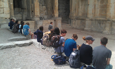 Photo: Sitting in the ruins of a library in a beautiful garden.