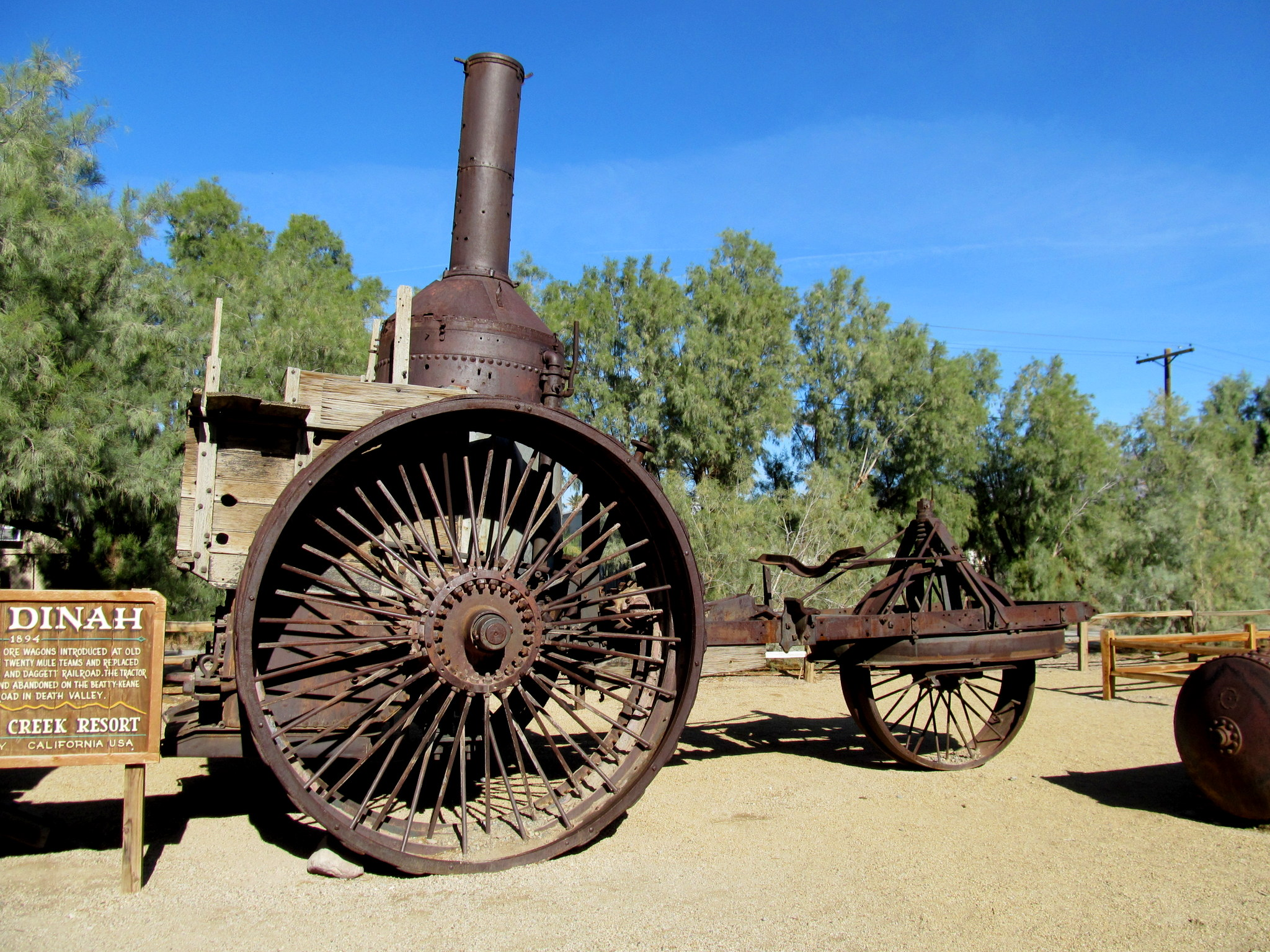 Photo: Old Dinah, a steam tractor used to replace 20-mule teams