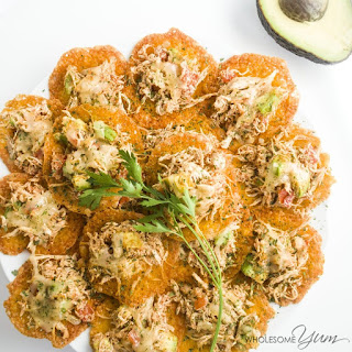 Spicy Chicken Cheddar Nachos (Low Carb, Gluten-free)