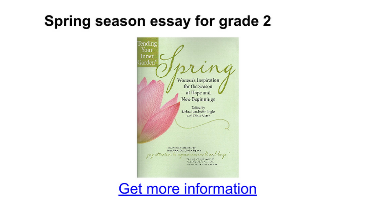 spring season essay for grade google docs