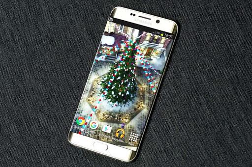 雪のクリスマス3Dライブ壁紙