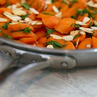 Sautéed Carrots with Almonds.