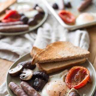 "Sheet-Pan ""Half English"" Breakfast."