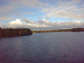 Photo: Рощинское озеро.  Вид на Пантелеймоновский скит.
