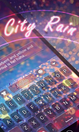 City Rain GO Keyboard Theme
