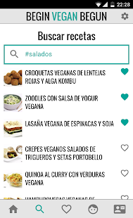 Begin Vegan Begun Recetas: miniatura de captura de pantalla