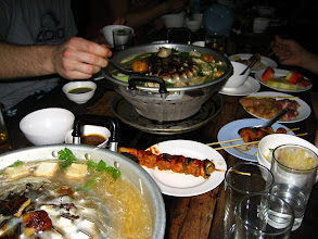 Photo: All sorts of meat and 3 kinds of tofu to be cooked by yourself on coals