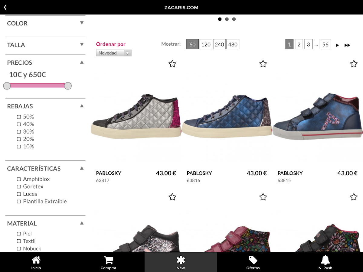 Zacaris Zapatos Online- screenshot