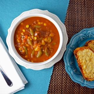 Semi-Homemade Vegetable Beef Soup.