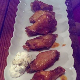 Honey Chipotle Wings with Gorgonzola Dipping Sauce Recipe