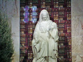 Photo: A statue of Mary and her Mother, Anne.