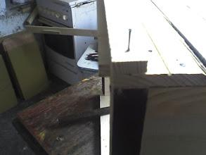 Photo: Do tej listewki przybijane będą później pionowe klepki zewnętrzne korpusu