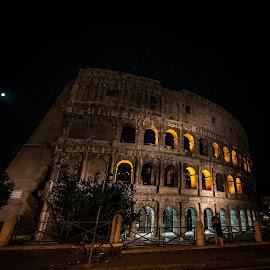 love below colosseum by Antonello Madau - City,  Street & Park  Night