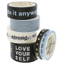 Teresa Collins Washi Tape 6/Pkg - Bold Life Do It Anyway