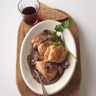 Pan-Seared Chicken with Mushrooms in Creamy Port Sauce Recipe