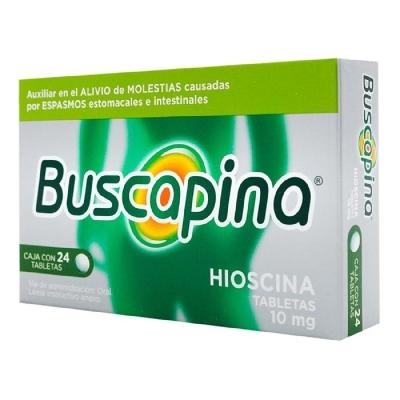Hioscina N-Butilbromuro Buscapina 10mg x 24 Tabletas