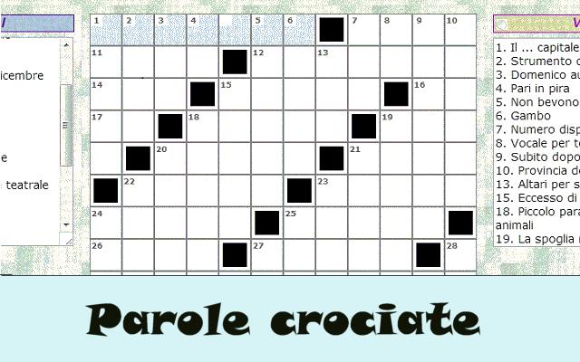 Cruciverba parole crociate enigmistica chrome web store for Cruciverba facili per bambini piccoli