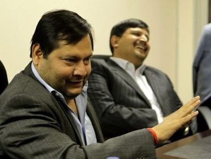 Ajay Gupta and his brother: Picture: SUPPLIED.