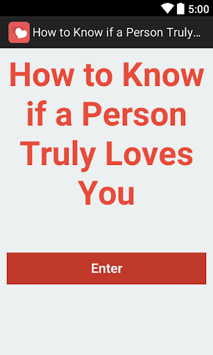 Know if a Person Loves You