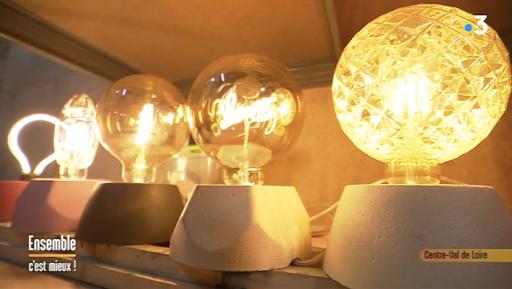 Les lampes en béton de Junny dans la matinale de France 3