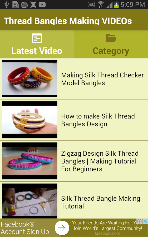 thread bangles making videos android apps on google play
