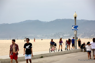 Photo: (Year 3) Day 30 - The Beach of Santa Monica, With a Mountain Backdrop #2