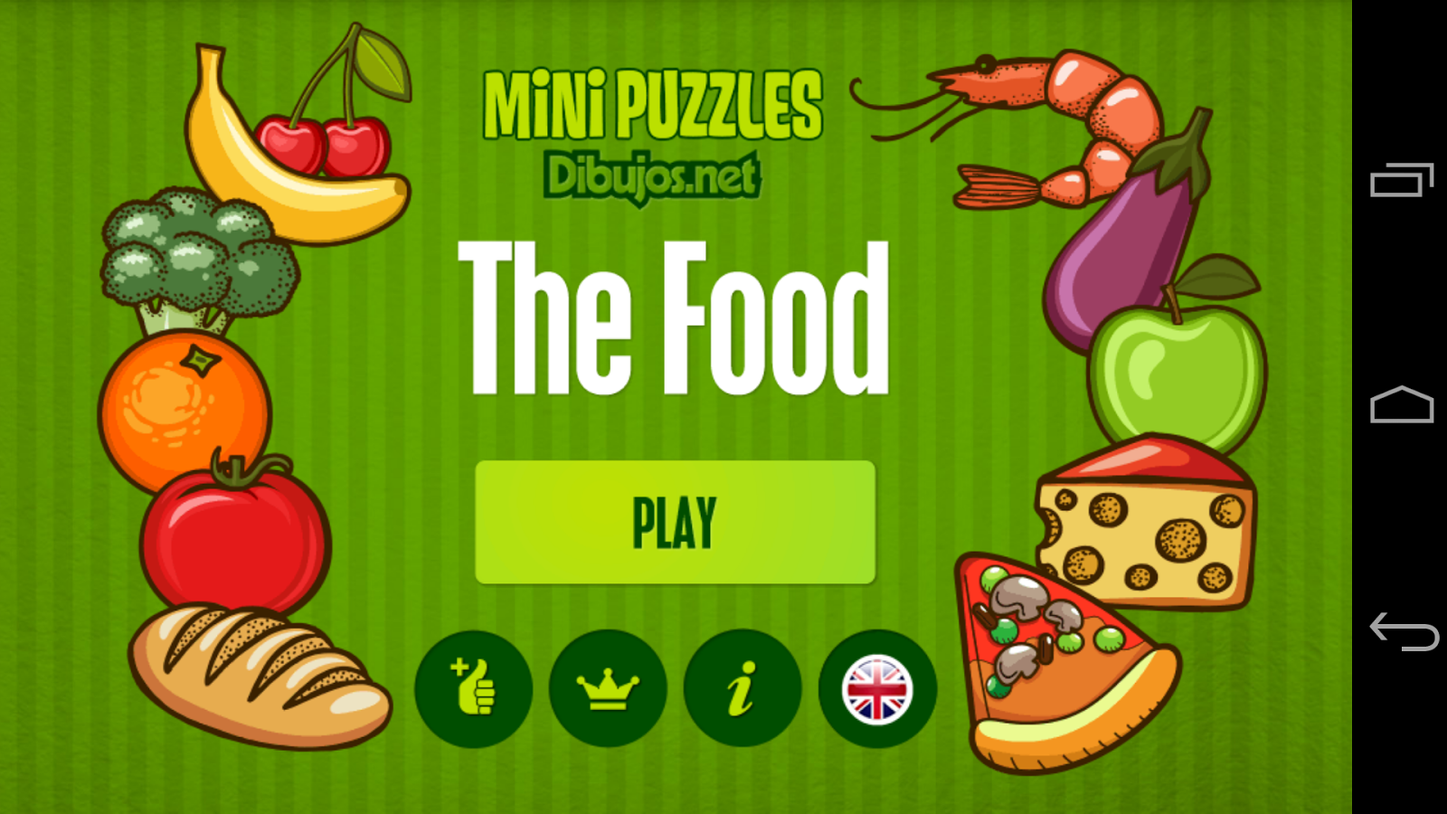 Puzzle for Kids : The Food- screenshot