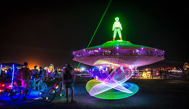 Photo: Another wild scene from Burning Man around midnight when things really get curazy! :)