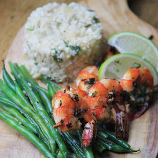 Cilantro Lime Shrimp Skewers & Cauli Rice