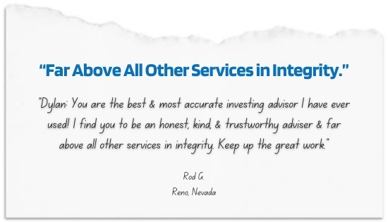 """""""Far Above All Other Services in Integrity"""""""