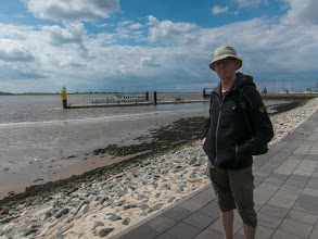 Photo: Bremerhaven (in de achtergrond de boot)